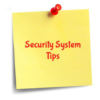 Security System Tips Sticky Note
